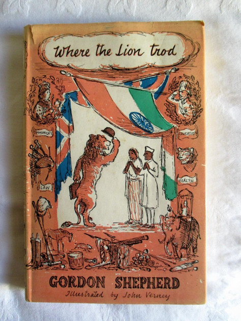 cover JV illustrator Where the lion trod