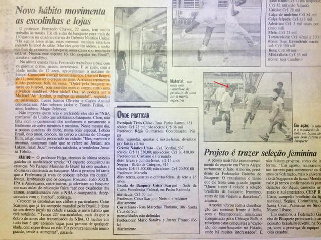 Carreira anterior:  jogador de basquete (Zero Hora, 1992)