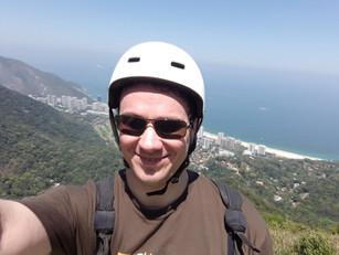 Preparação para saltar de parapente (Rio de Janeiro, out-2017)