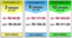 Tabela de preços para pagamento com boleto