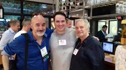 Com Paul Gilbert e Dennis Tirch (Sevilha, tapas and wines  ACBSWC 2017)