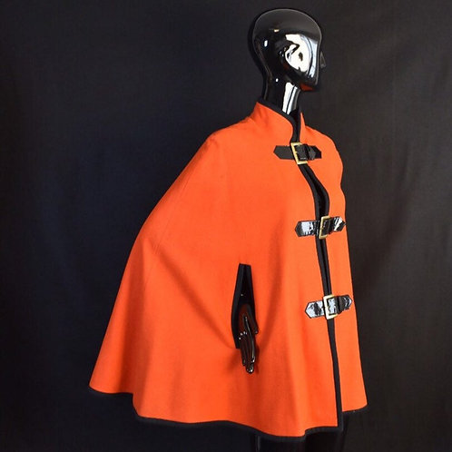 Red and Black Vintage Cape