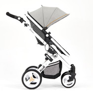 Stroller (with wheels, seat, basket and canopy)