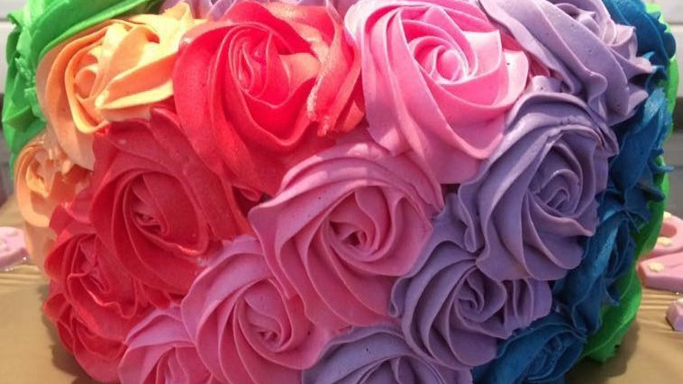 Rose Rainbow Cake
