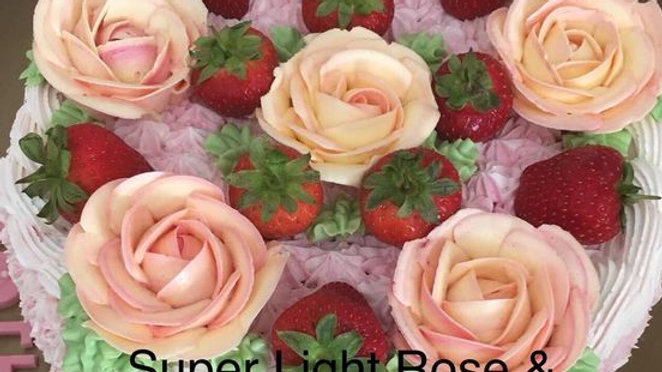 A Strawberry Rose Basket Cake