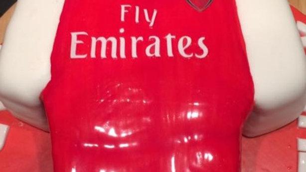 Arsenal Football T-shirt Cake