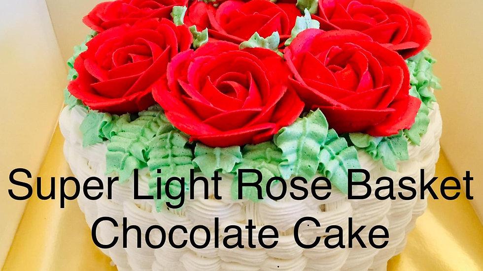 A Red Rose Basket Cake