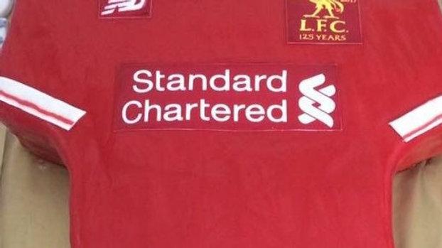 Liverpool Football T-shirt Cake