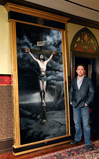 Religious art commissions and paintings by Catholic artist Eric Armusikik
