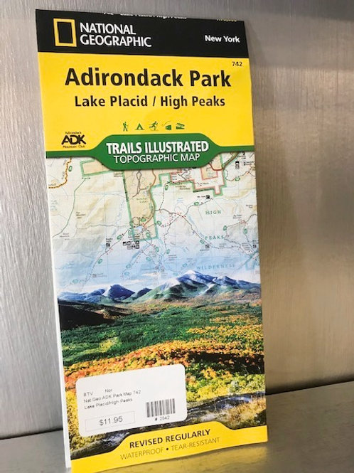 Nat Geo Adirondack Park Map: Lake Placid/High Peaks