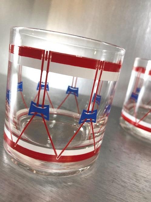 Vintage Federal Executive Set of 8 Old Fashioned Glasses