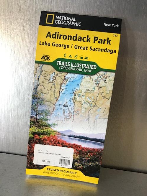 Nat Geo Adirondack Park Map: Lake George/Great Sacandaga