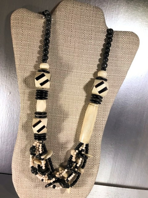Khalaf Horn and Bone Beaded Necklace