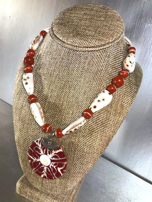 Jasper & Sea Urchin Pendant and Necklace