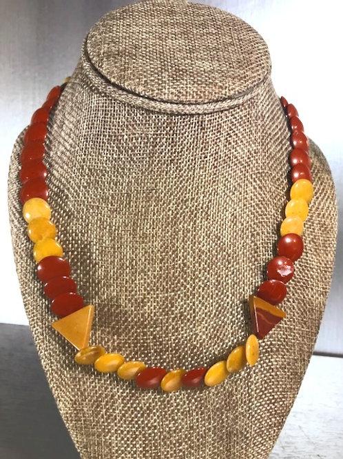 Lentil Jasper Beaded Necklace