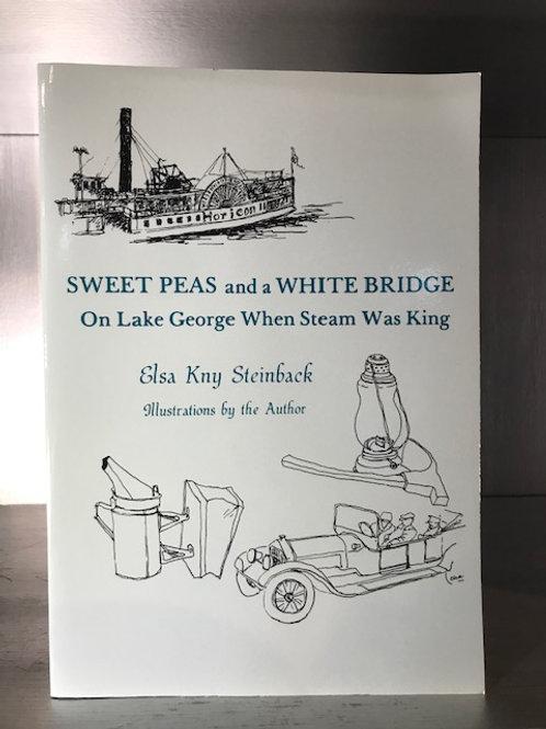 Sweet Peas and a White Bridge