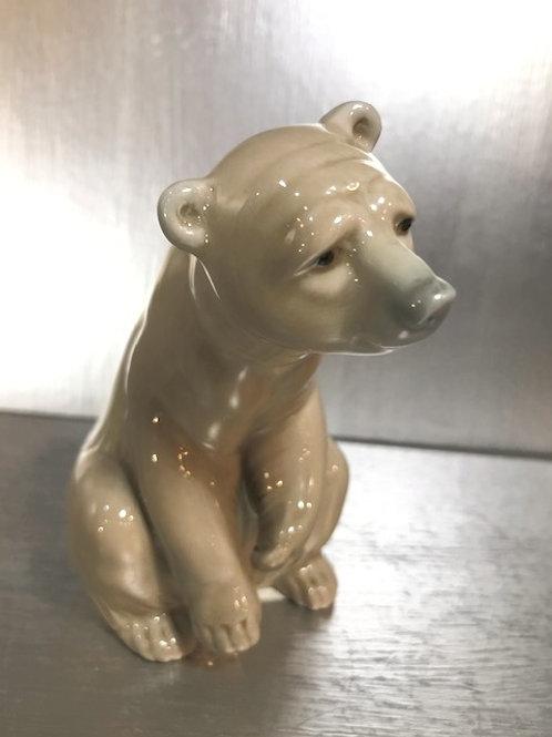 """Lladro Seated Bear 3.5"""" Figurine"""