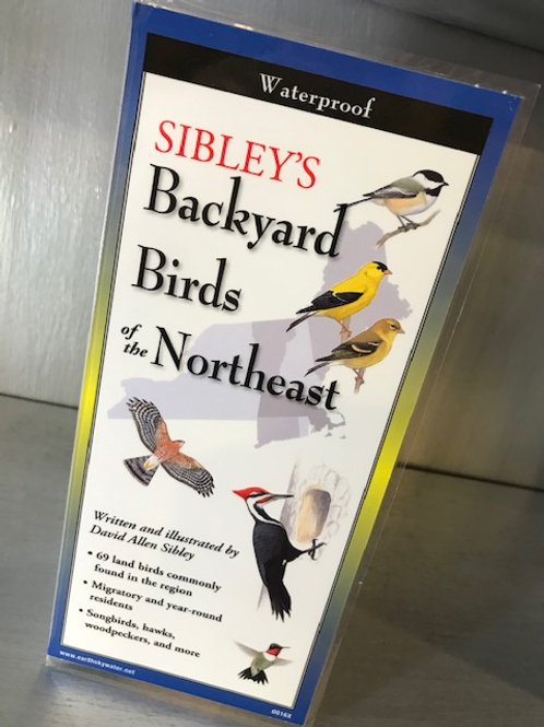 Sibley's Backyard Birds of the Northeast Waterproof Folding Guide