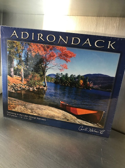 Canoeing in the Lake George Narrows Jigsaw Puzzle