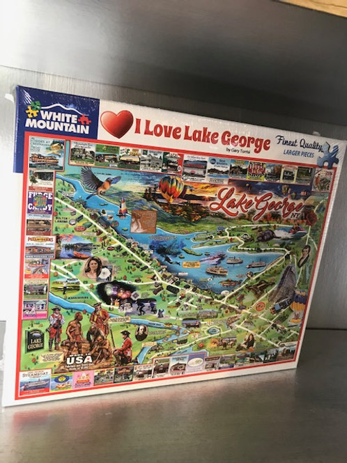 I Love Lake George Jigsaw Puzzle
