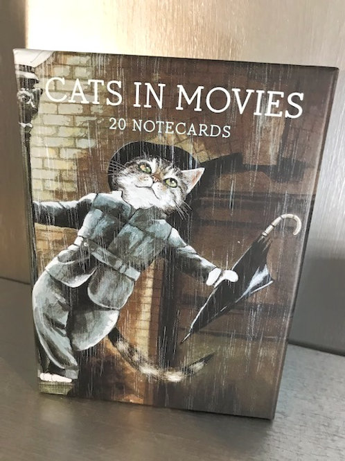 Cats in Movies - 20 Notecards