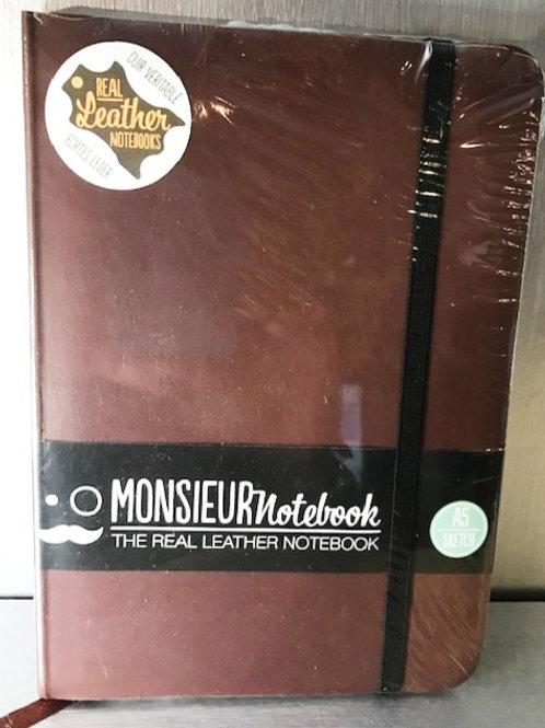 Monsieur Real Leather Sketch Notebook
