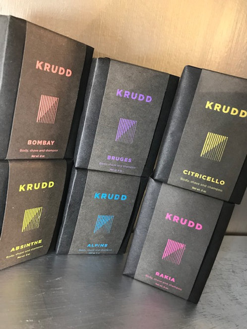 Krudd All-in-one Body, Shave and Shampoo bars. Six Options