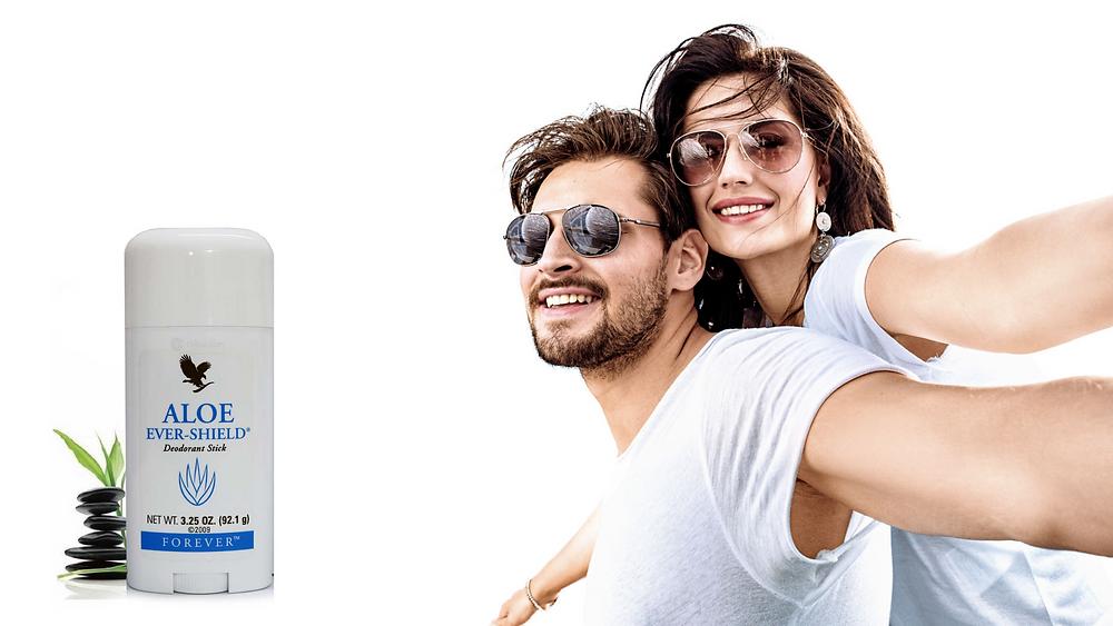 dabīgs dezodorants, vīrietis un sieviete, forever living