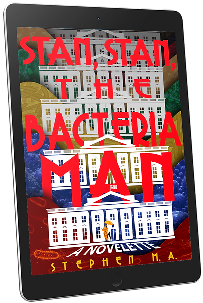 Stan Stan the Bacteria Man cover tablet mockup