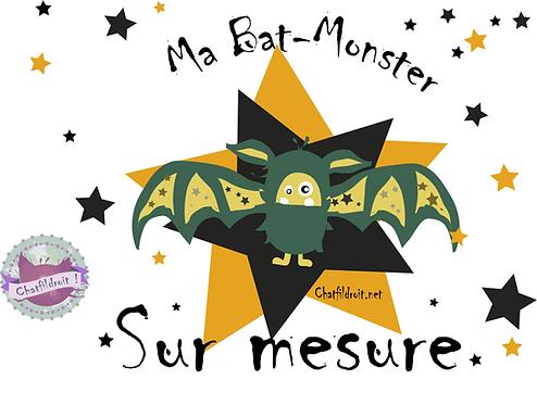"""Peluche Chauve-souris """"Bat-Monster"""" sur mesure"""