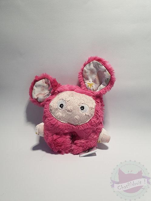 peluche mini bestiole rose et blanc