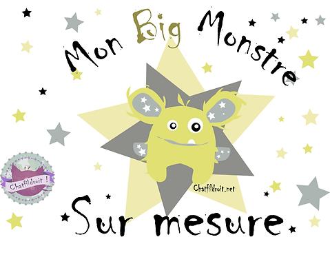 """Peluche """"big monstre"""" sur mesure"""