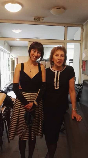 The wonderful pianist Mrs Tatiana Bojko being a valuable teacher and accompanist to me over 10 years