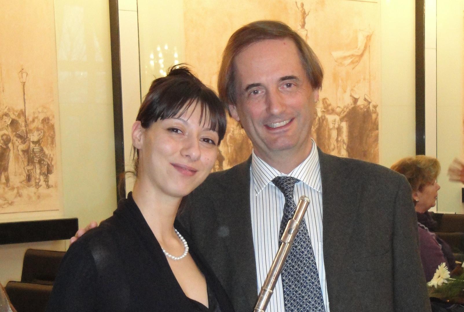 Dieter Flury - principal flutist of the Viena Pfilharmonic at the International Music Festival ''March Music Days'' Rousse, Bulgaria