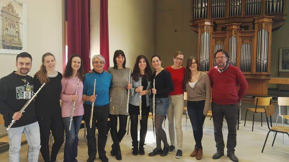 Mastercalss of Prof. Georgi Spassov in Lemmensinstituut Leuven, Belgium