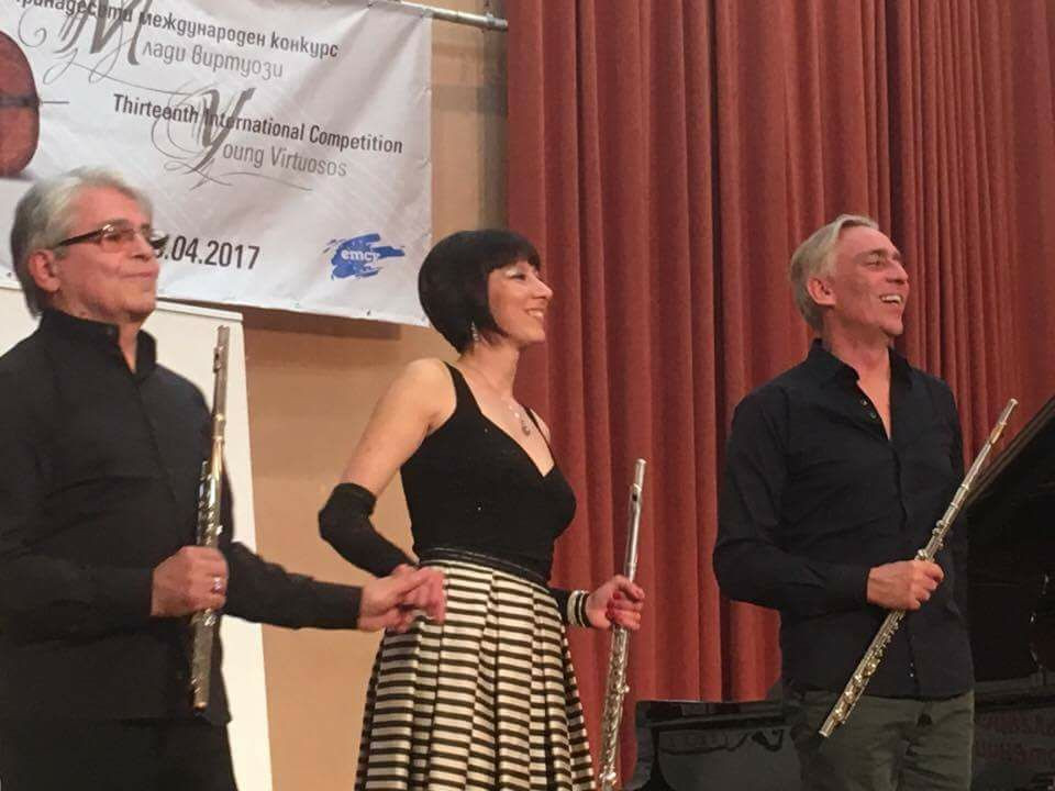 Jurry Concert with Prof. Georgi Spassov and Prof. Berten D'Hollander at International Competition ''Young Virtuosos'' 2017 in Sofia , Bulgaria
