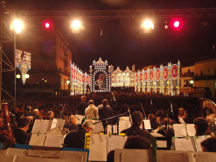 Being part of a festival orchestra is bringing particular fun..huge and welcoming Italian audience
