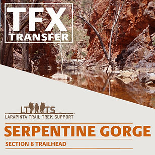 Larapinta Trail Transfers to Serpentine Gorge