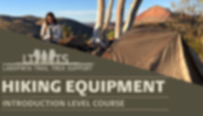 Larapinta Trail Hiking Equipment and Training