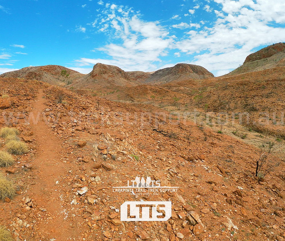 The new Section 7 North route on the Larapinta Trail