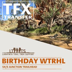Larapinta Trail Transfers to Birthday Waterhole