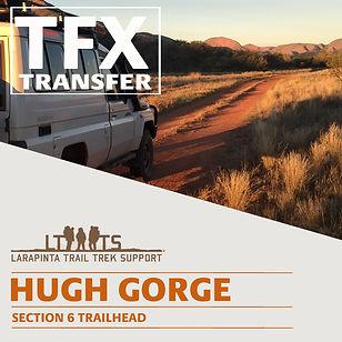 Larapinta Trail Transfers to Hugh Gorge