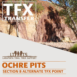 Larapinta Trail Transfers to Ochre Pits