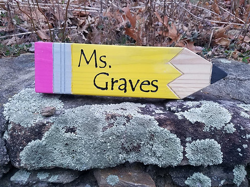 Personalized Pencil Teachers Gift