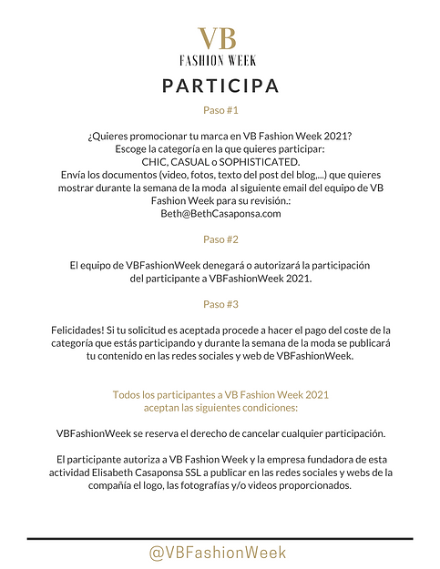 participar en fashion week