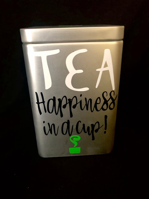 Personalized Tea Tins