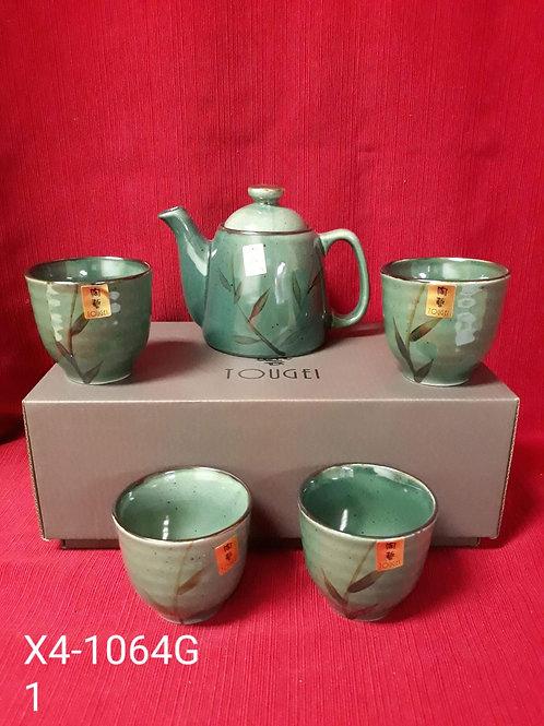 5 Piece Tea Set w/ steeping basket