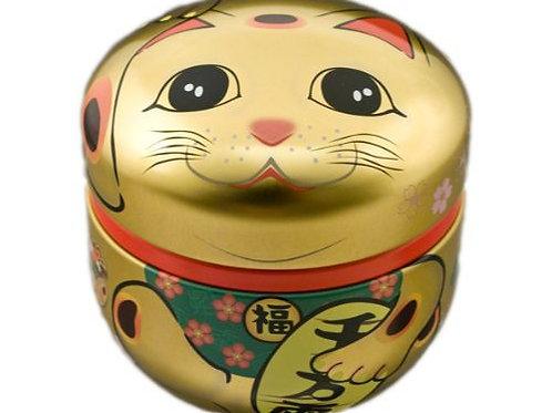 Cylinder Tin- Lucky Cat