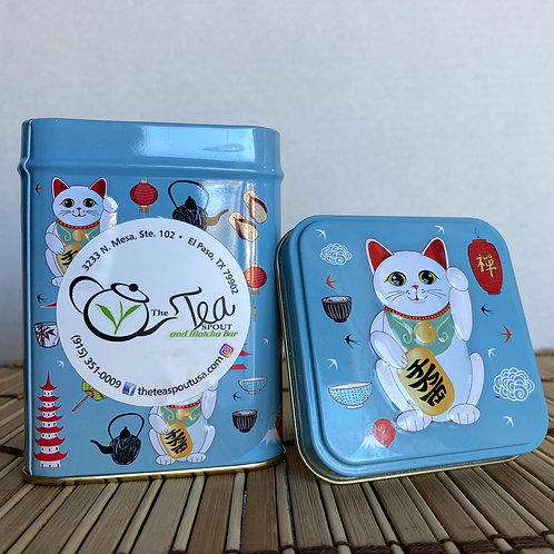 Square Tin- Lucky Cat