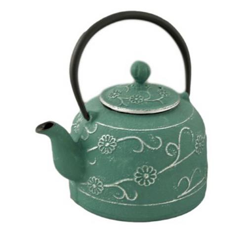 Sage Cast Iron Tea Pot